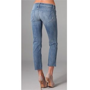 Mother The Rascal Cuff Crop Jeans